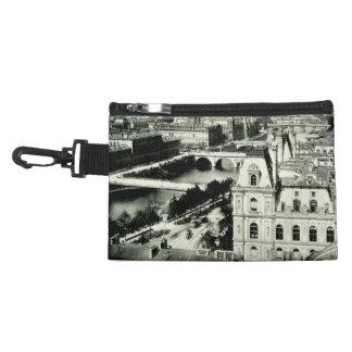 Seine Paris Cityscape Historic 1800s France Bridge Accessory Bag