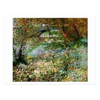 Seine, Pont de Clichy in Spring, Van Gogh Fine Art Postcard