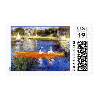 Seine River At Asnieres by Renoir Stamp