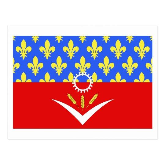 Seine-Saint-Denis flag Postcard