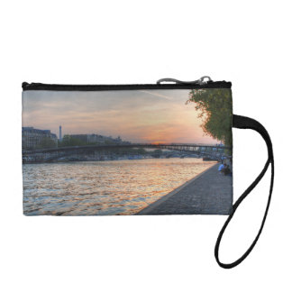 Seine sunset coin wallet