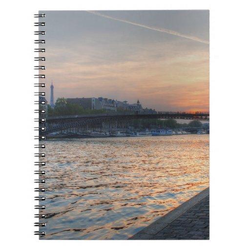 Seine sunset notebook