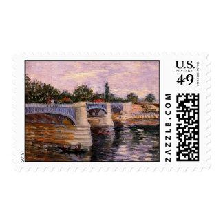 Seine with the Pont del Grande Jette by van Gogh Postage