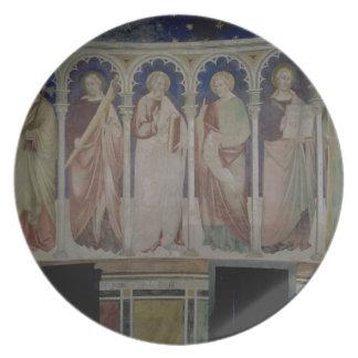 Seis apóstoles, c.1390 (fresco) plato