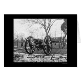 Seis armas de la artillería del triturador en tarjeta de felicitación