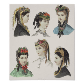 Seis bellezas del Victorian - poster grande -