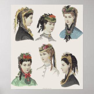 Seis bellezas del Victorian - poster grande - modi