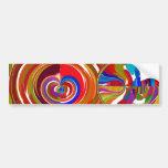 Seis círculos de la sigma - la terapia del color d etiqueta de parachoque