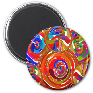 Seis círculos de la sigma - la terapia del color d imán para frigorifico