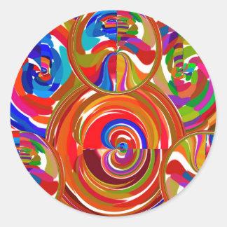 Seis círculos de la sigma - la terapia del color d etiqueta redonda