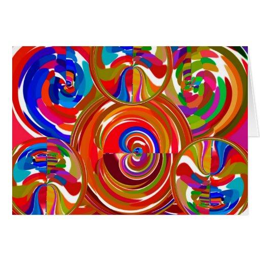 Seis círculos de la sigma - la terapia del color d tarjeton