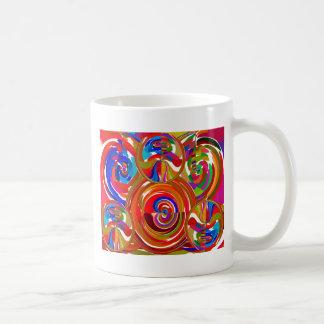Seis círculos de la sigma - la terapia del color d taza de café