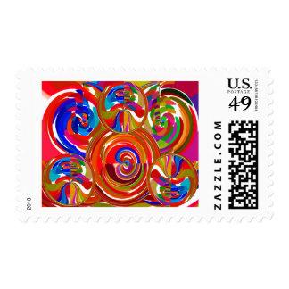 Seis círculos de la sigma - la terapia del color sello