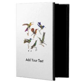 Seis colibríes coloridos