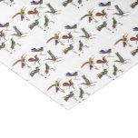 Seis colibríes hermosos papel de seda pequeño