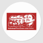 Seis comunistas pegatinas redondas