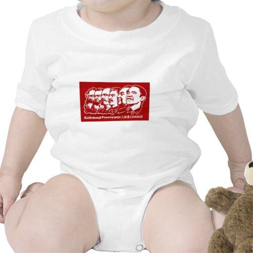 Seis comunistas trajes de bebé