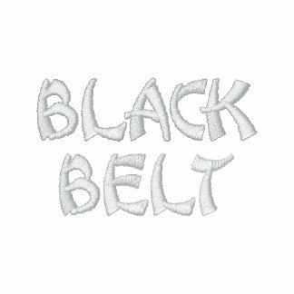 Seis correas negras magras de la sigma chaqueta bordada