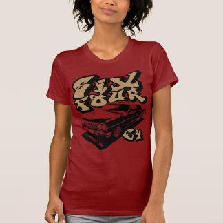Seis cuatro (negro/gld quebradizos) camiseta