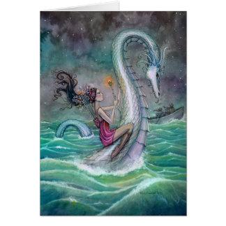 Seis de la serpiente de mar del arte de la tarjeta de felicitación
