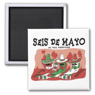 Seis de Mayo 2 Inch Square Magnet