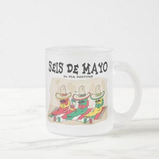 Seis De Mayo Frosted Glass Coffee Mug