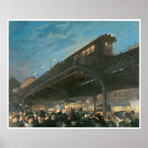Seis en punto, c.1912 Juan Sloan Impresiones