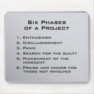 Seis fases de un proyecto alfombrillas de ratones
