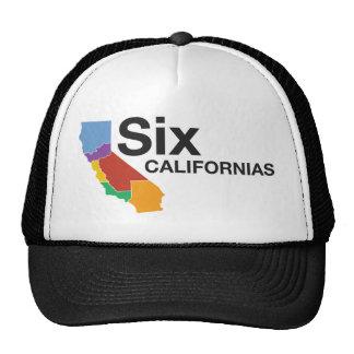 Seis gorras de Californias