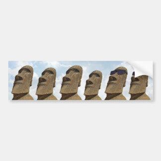Seis islas de pascua Moai - pegatina para el Pegatina Para Auto