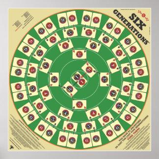 """Seis juegos de tarjeta de las generaciones 32"""" x impresiones"""