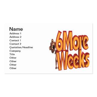 Seis más semanas tarjetas de visita