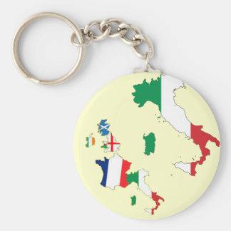 Seis naciones - Italia Llavero Personalizado