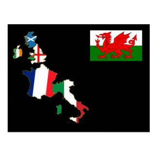 Seis naciones País de Gales Postales