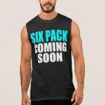 Seis paquetes que vienen pronto camiseta sin mangas