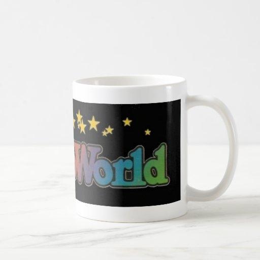 Seis parques de atracciones de Astroworld de las b Taza Básica Blanca