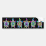 Seis pegatinas para el parachoques coloridas de la pegatina de parachoque