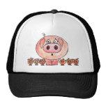 Seis pequeños cerdos gorra