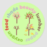 Seis razones para plantar un árbol pegatina redonda