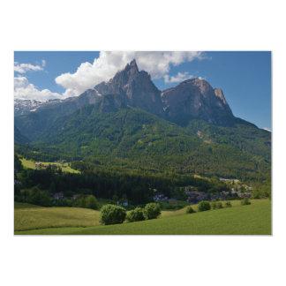 Seis Schlern Mountain Castel Ruins Hauenstein 5x7 Paper Invitation Card