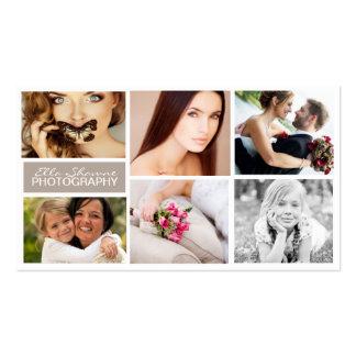 Seis tarjetas de visita de la foto de las imágenes