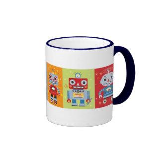 Seis tazas de los robots de la diversión