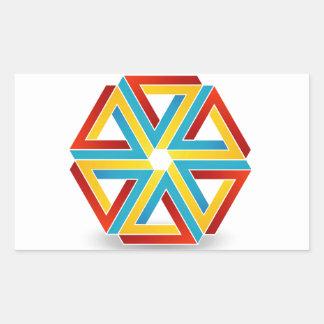 Seis triángulos del penrose formados como la rectangular altavoz