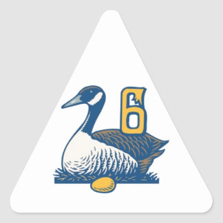 Seis uno-Colocaciones de los gansos Pegatina Triangular
