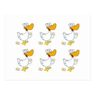 Seis uno-Colocaciones de los gansos Tarjetas Postales