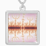 Seismic Measure - Fractal Art Silver Plated Necklace