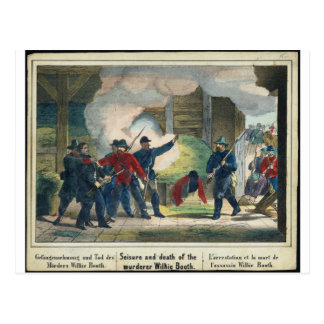 Seisure and death of the murderer Wilkie Booth Postcard