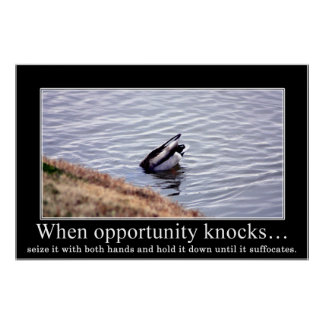 Seize opportunity with both of your hands (large) posters