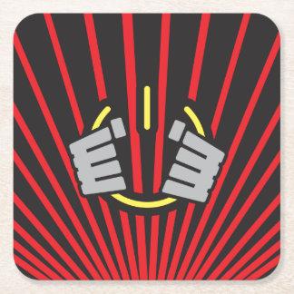 Seize Power Symbol Square Paper Coaster