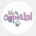 Seize The Cupcake Round Sticker